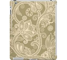 Taupe Floral iPad Case/Skin