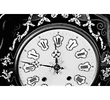 Antique Clock  Photographic Print