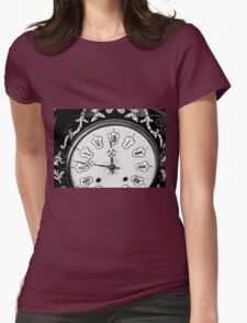 Antique Clock  Womens Fitted T-Shirt