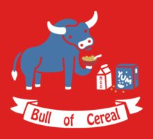 Bull of Cereal funny nerd geek geeky by ronysudira