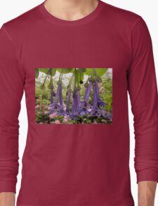 Purple Flowers,(Iochroma Australe,) Somerset, Tasmania, Australia. Long Sleeve T-Shirt