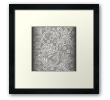 Grey Floral Framed Print