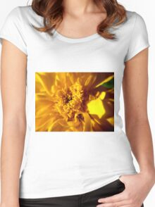 Yellow Flower Women's Fitted Scoop T-Shirt