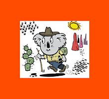 Cartoon of happy koala bear swagman in outback Unisex T-Shirt