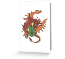 Riff the Music Dragon Greeting Card