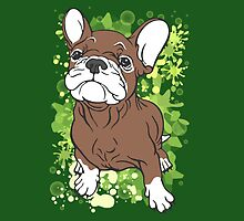 French Bull Dog Cartoon Brown and White by Sookiesooker