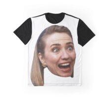 Hillary Clinton Surprise (white) Graphic T-Shirt
