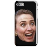 Hillary Clinton Surprise (black) iPhone Case/Skin