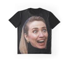 Hillary Clinton Surprise (black) Graphic T-Shirt