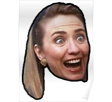 Hillary Clinton Surprise (black) Poster