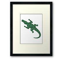 Alligator art puzzle pattern Framed Print