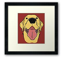 Happy Yellow Lab Framed Print