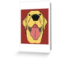 Happy Yellow Lab Greeting Card