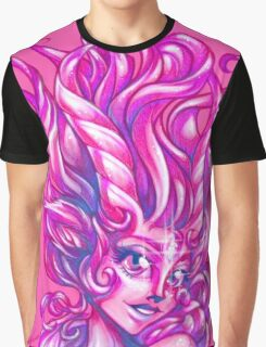 Sparkly Space Goat Girl Graphic T-Shirt