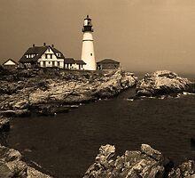 Lighthouse - Portland Head, Maine by Frank Romeo