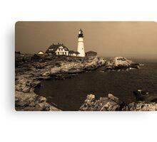 Lighthouse - Portland Head, Maine Canvas Print