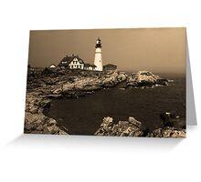 Lighthouse - Portland Head, Maine Greeting Card