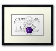 Vintage Galaxy Camera Art Framed Print
