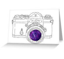 Vintage Galaxy Camera Art Greeting Card