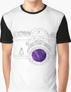 Vintage Galaxy Camera Art Graphic T-Shirt
