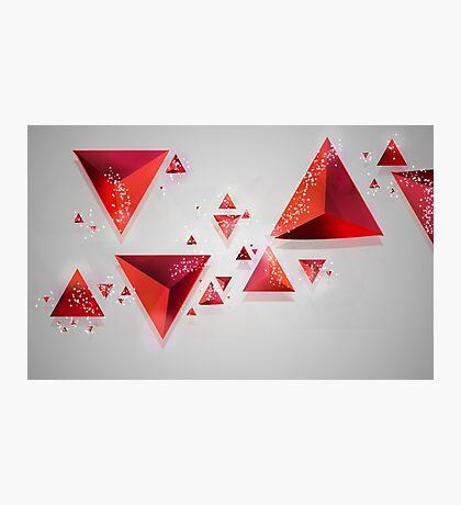 Triangular Mess Photographic Print
