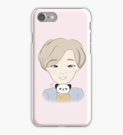 FAN ART NII Pink Chibi Nam Taehyun Selca with Potato iPhone Case iPhone Case/Skin