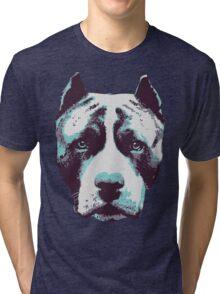 Blue Pit Bull  Tri-blend T-Shirt