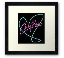 Carly Rae Jepsen - Heart Print Framed Print
