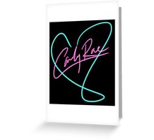 Carly Rae Jepsen - Heart Print Greeting Card