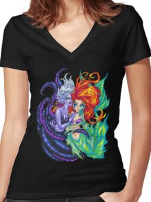 You Poor Unfortunate Soul Women's Fitted V-Neck T-Shirt