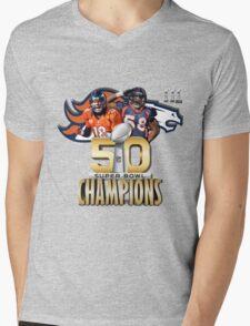 Denver Broncos Superbowl champions Mens V-Neck T-Shirt