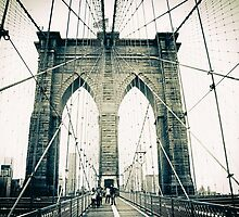 Brooklyn Bridge Crossing 2 by Jessica Jenney