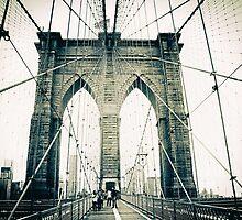 Brooklyn Bridge Crossing 2 by Jessica Jenney