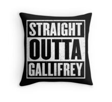 Straight Outta Gallifrey - The Time Lord's in the Hood - Movie Mashup - Geek Humor - Syfy - Doctor Who Mashup Throw Pillow