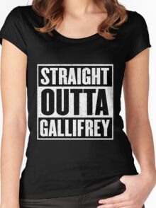 Straight Outta Gallifrey - The Time Lord's in the Hood - Movie Mashup - Geek Humor - Syfy - Doctor Who Mashup Women's Fitted Scoop T-Shirt