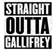 Straight Outta Gallifrey - The Time Lord's in the Hood - Movie Mashup - Geek Humor - Syfy - Doctor Who Mashup Photographic Print