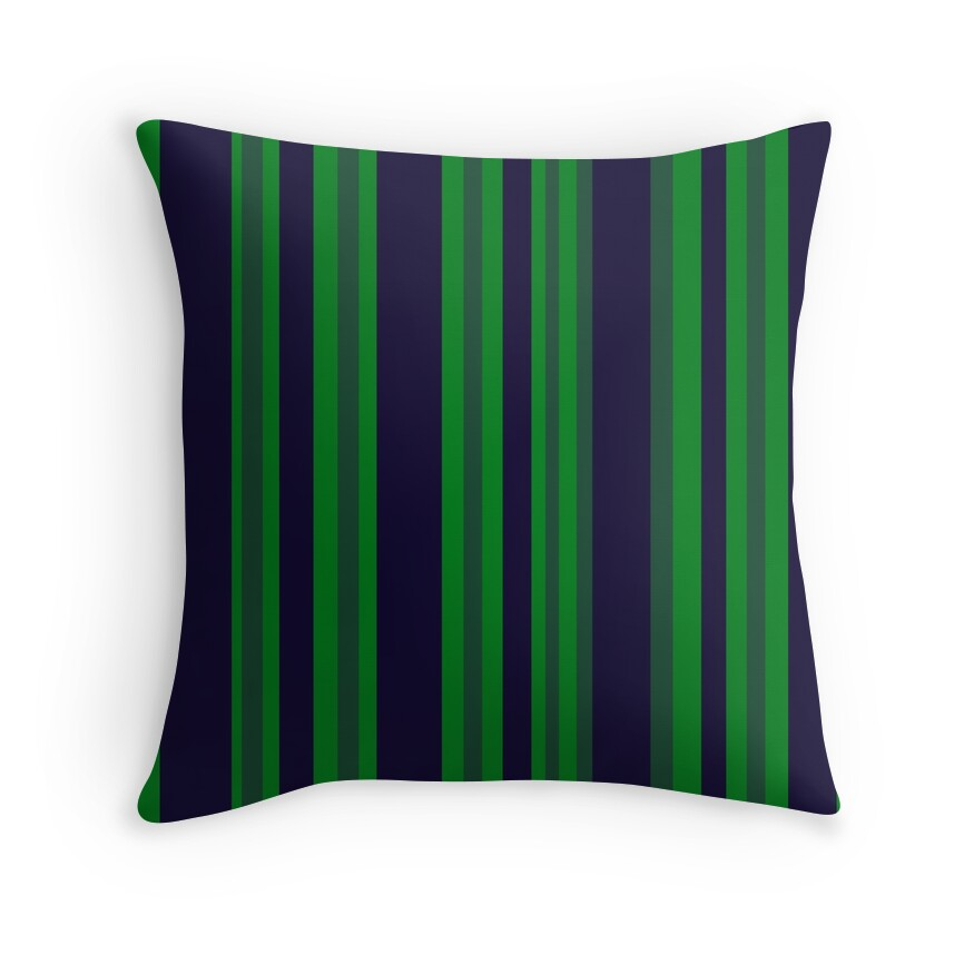Blue And Green Striped Throw Pillows :