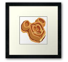 Mickey Waffle! Framed Print