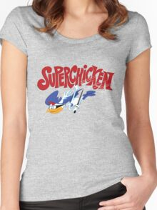 Super Chicken Women's Fitted Scoop T-Shirt
