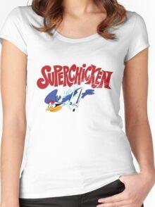 Super Chicken Women's Fitted Scoop T-Shirt