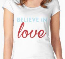 Believe in Love Women's Fitted Scoop T-Shirt