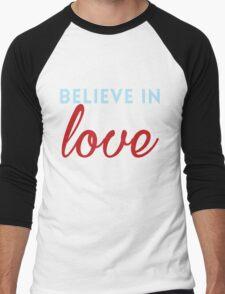 Believe in Love Men's Baseball ¾ T-Shirt