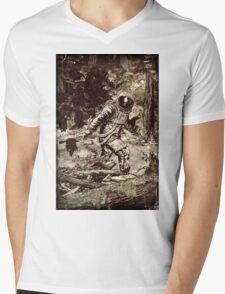 Spaceman Mens V-Neck T-Shirt