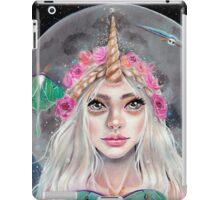Nymeria and the Luna Moths, Unicorn Girl iPad Case/Skin