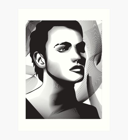 Digital Portrait Art Print