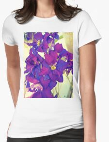 Purple Delphinium Womens Fitted T-Shirt