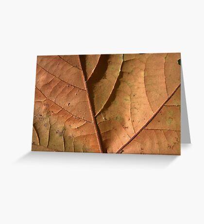 Leaf Texture Greeting Card