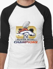 Denver Broncos Superbowl 50 Champions 2016 Men's Baseball ¾ T-Shirt