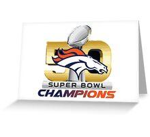 Denver Broncos Superbowl 50 Champions 2016 Greeting Card