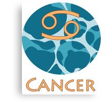 Cancer Zodiac Canvas Print
